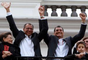 Rafael Correa fue reelegido con un 57,17% de votos