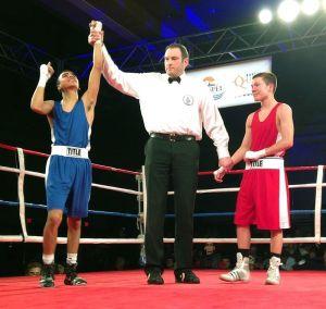 Gilbert Rentería es campeón nacional de boxeo