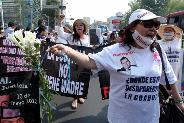 Madres claman por  desaparecidos