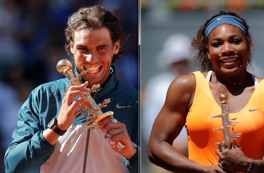 Rafael Nadal y Serena Williams ganan Masters de Madrid