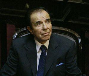 Expresidente Menem condenado a 7 años de prisión