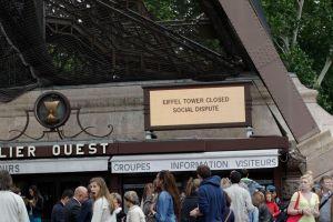 Torre Eiffel es cerrada por huelga de trabajadores