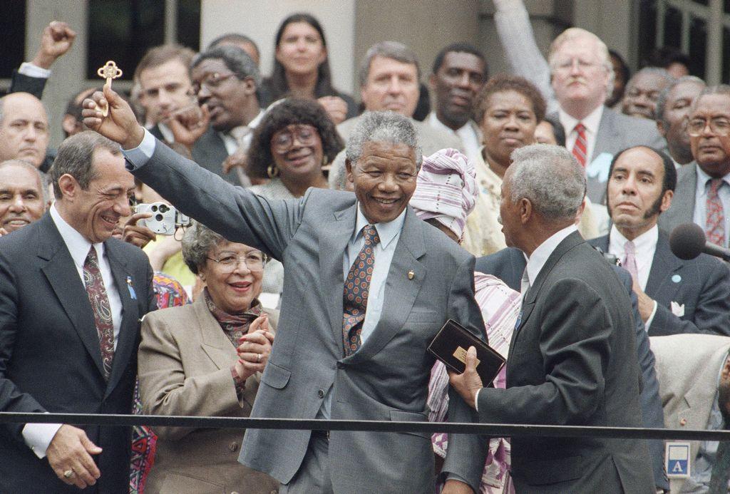 La Gran Manzana recibió a Mandela en el 1990 (fotogalería)