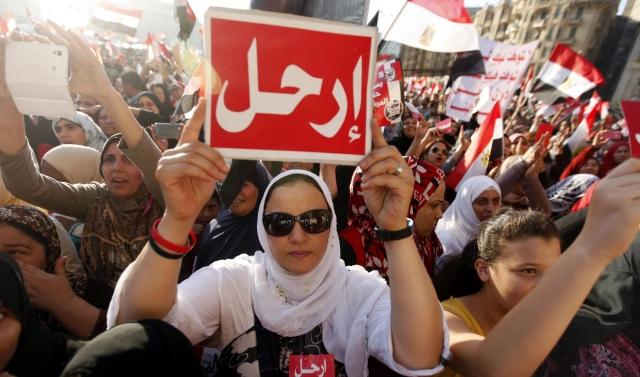 Miles de egipcios piden la renuncia del presidente