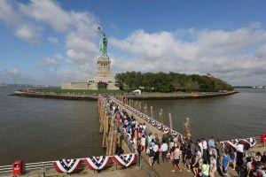 Estatua de la Libertad es reabierta por 4 de Julio