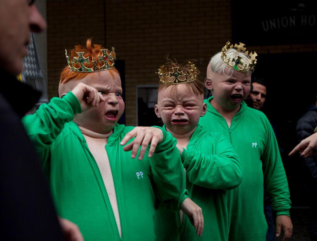 Reino Unido expectante por llegada de bebé real (fotos)