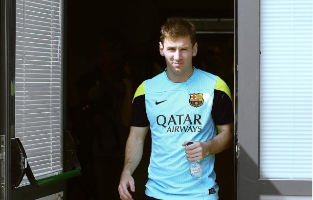 Messi tranquilo por lío fiscal y Neymar