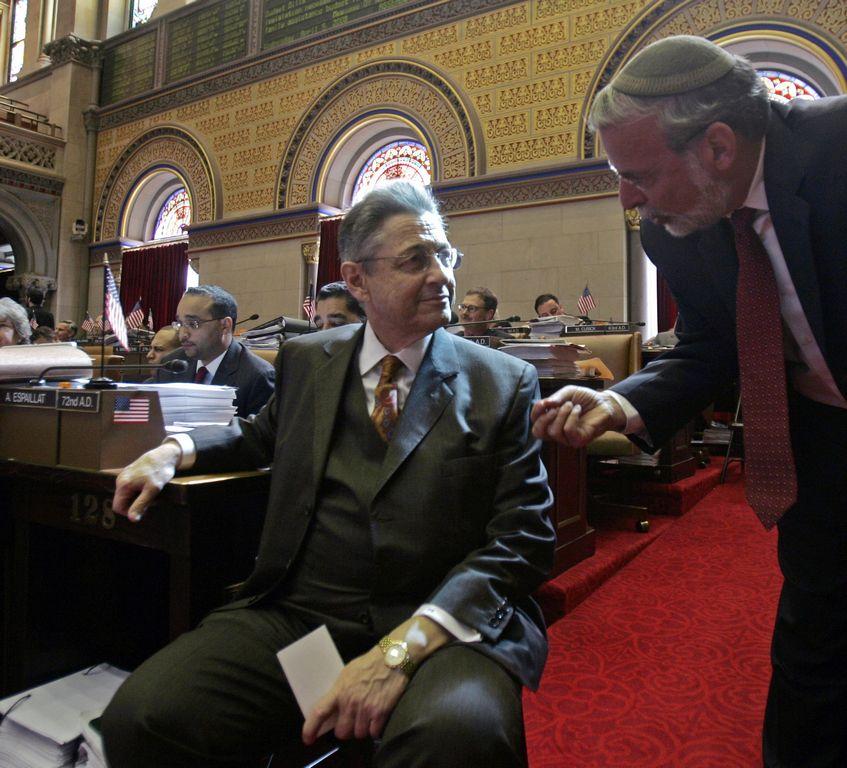 El presidente de la Cámara, Sheldon Silver (izquierda).