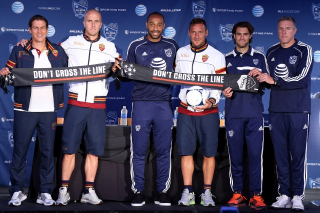 Estrellas de la MLS desafían a la Roma