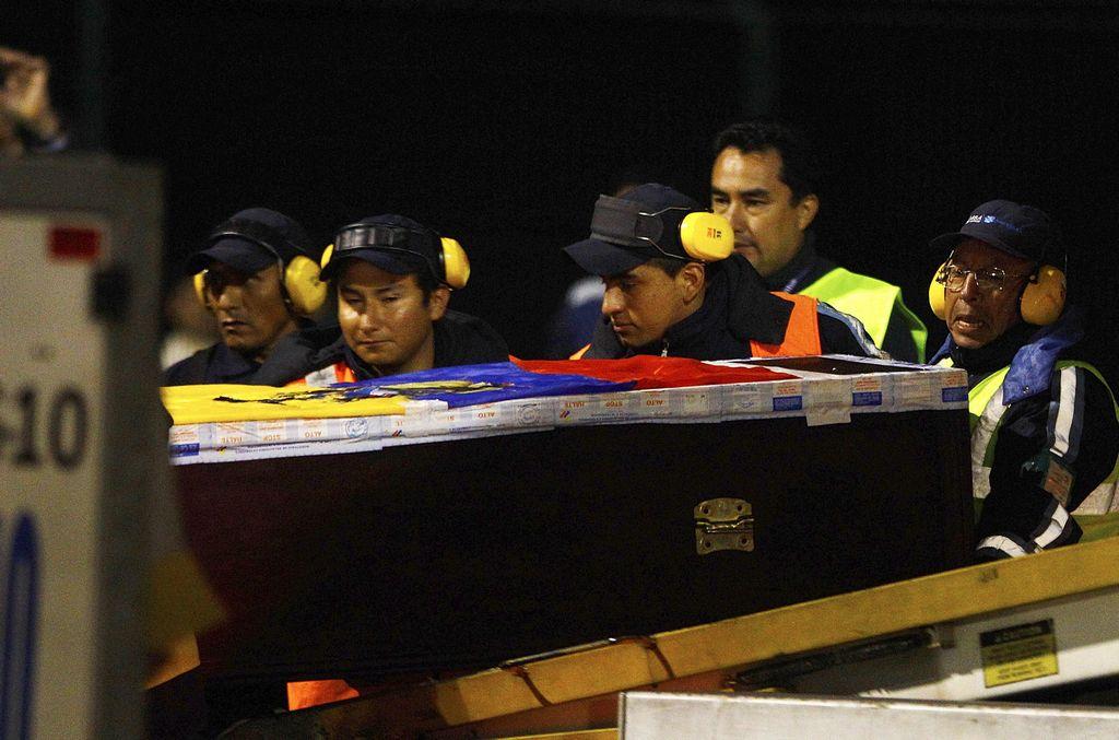 "Ecuador recibió los restos del ""Chucho"" Benítez (video)"