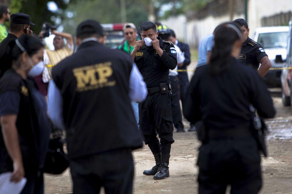 Foto de archivo de la policía guatemalteca.