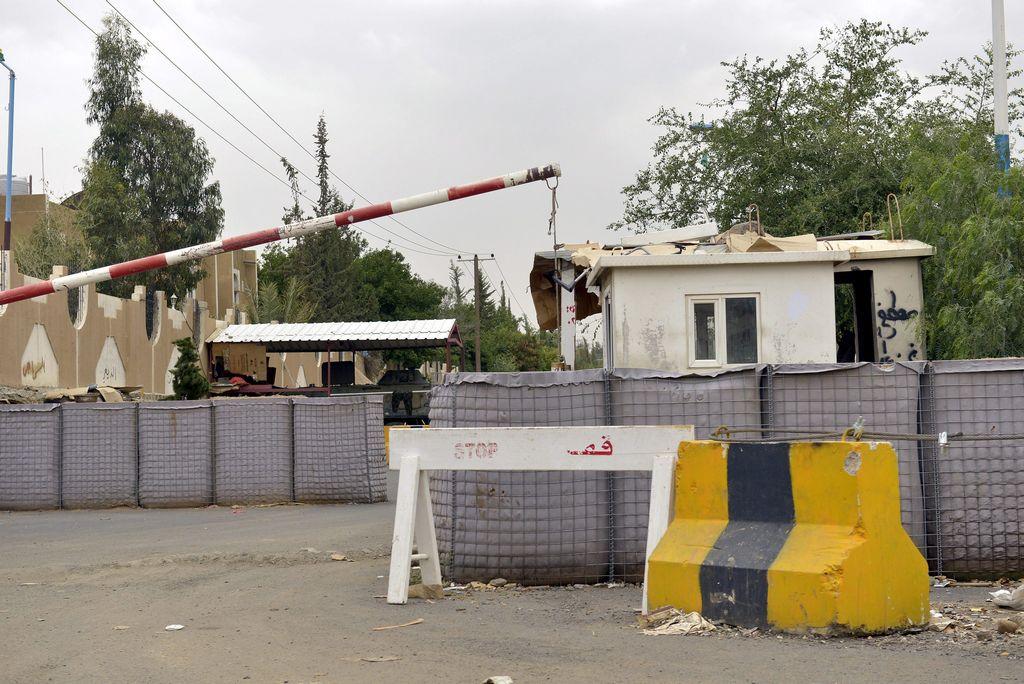 La embajada de EEUU en Yemen luce custodiada por la seguridad estadounidense.