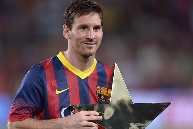 Messi es la estrella de los delanteros del Barcelona.