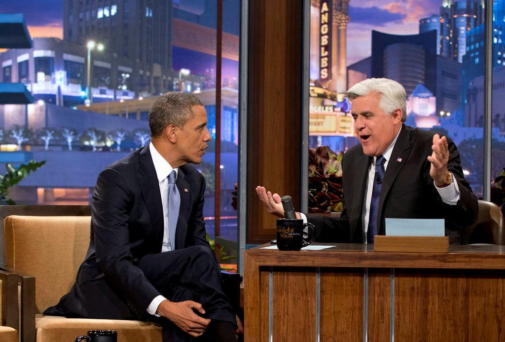 """El presidente Barack Obama apareció anoche en el programa """"The Tonight Show"""" del popular presentador Jay Leno."""