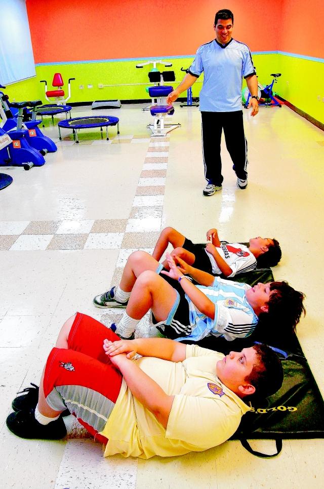 El ejercicio es parte importante de la lucha contra la obesidad infantil.