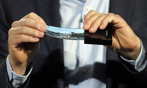Samsung pide patente de brazalete con pantalla flexible
