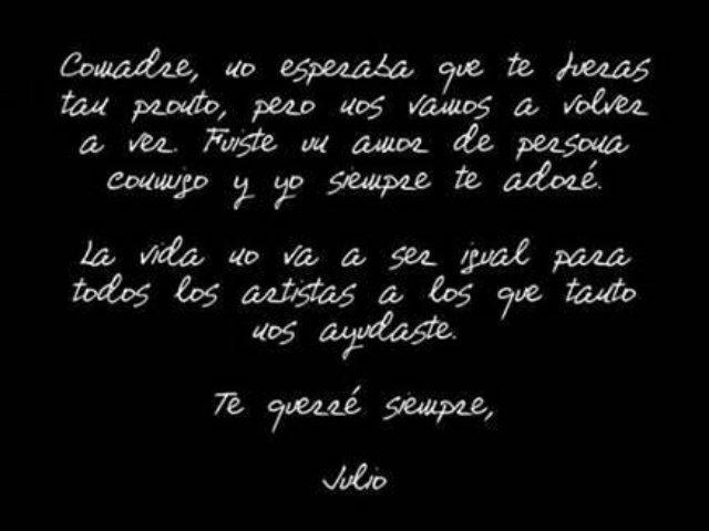 Destrozado Julio Iglesias por muerte de Betty Pino (videos)