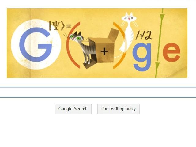 Doodle de Google honra al genio de física cuántica Schrödinger