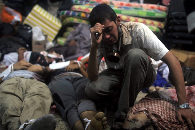 Masacre en campamentos egipcios