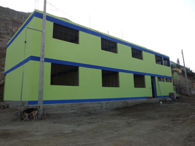 La escuela primaria Jorge Guevara Mellado, en Huarochirí, Perú.