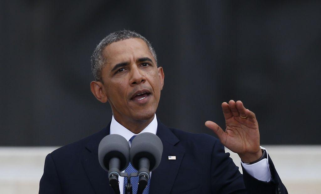 El presidente durante su emotivo discurso.