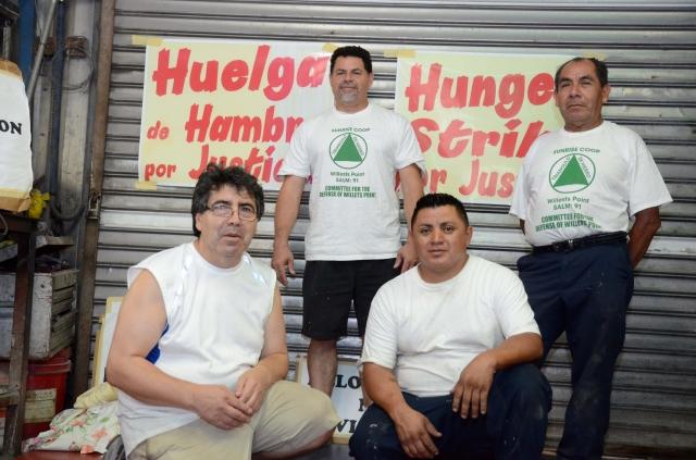 Comerciantes hacen huelga de hambre en Willets Point