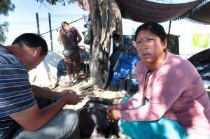 Crece número de deportados en campamento en Tijuana