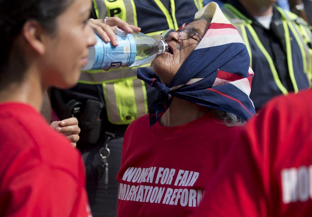 El grupo de mujeres, de todas las edades, cuenta con la fuerza para seguir luchando por una reforma migratoria integral.