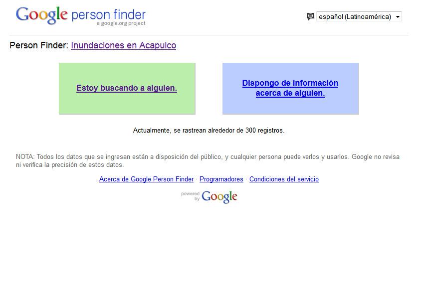 Google activa buscador de personas por crisis en Acapulco
