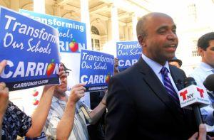 Carrión, el único candidato sin protección del NYPD