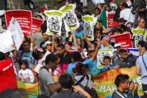 Miles marcharon en NYC para pedir reforma migratoria