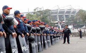Mil 825 policías vigilarán partido México - Panamá