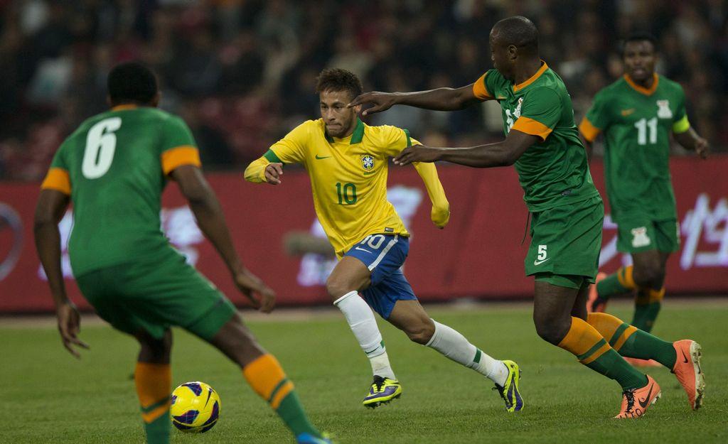 El delantero del Barcelona puso a bailar a Zambia.