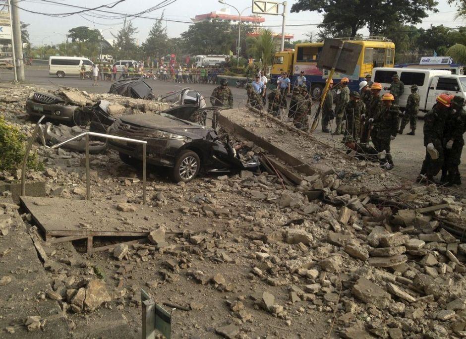 85 muertos por sismo de 7.2 grados en Filipinas