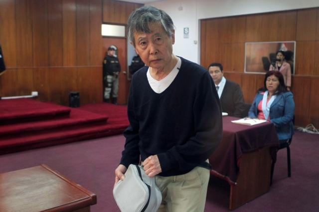 Fujimori demacrado en nuevo juicio