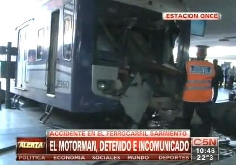 Más de 80 heridos en accidente de tren en Argentina