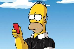 Homero Simpson será árbitro en la Copa del Mundo (Video)