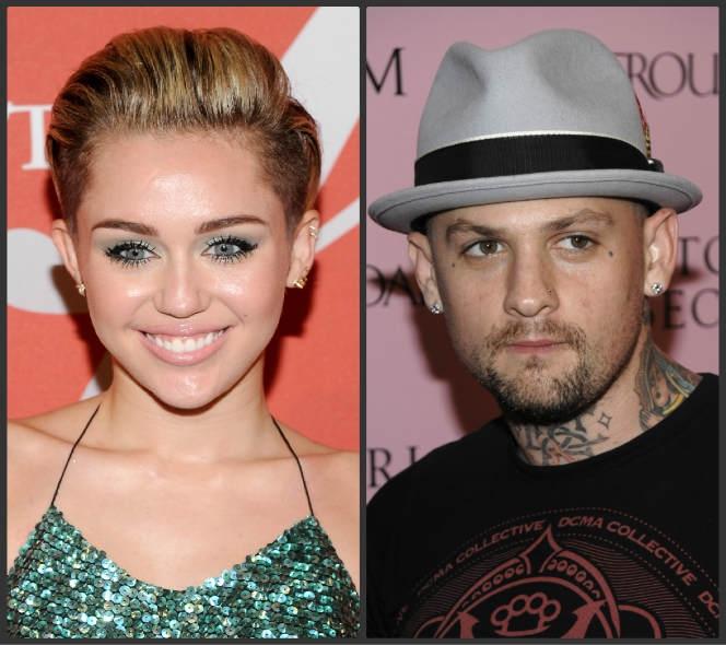 Miley Cyrus y Benji Madden se besaron en Halloween