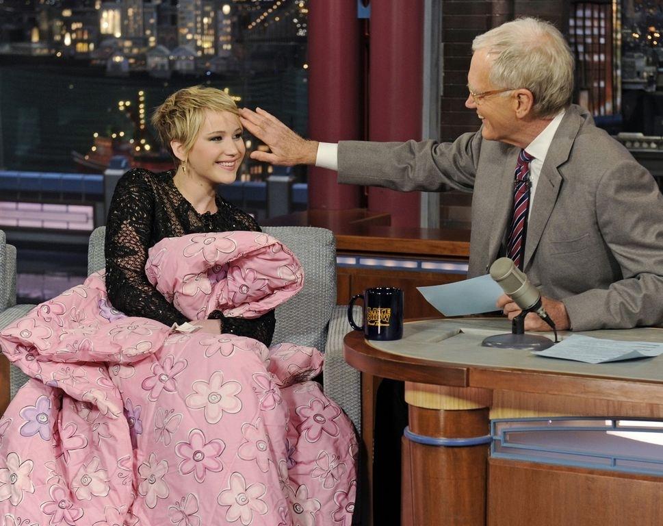 Jennifer Lawrence mantiene una buena amistad con David Letterman.