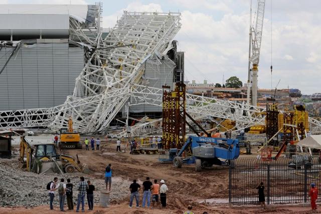 Tragedia en estadio que abrirá Mundial