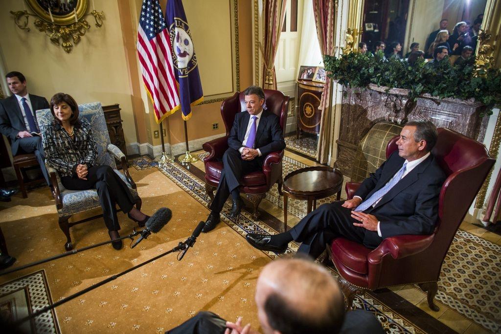 Santos pide apoyo del Congreso de EEUU en proceso de paz