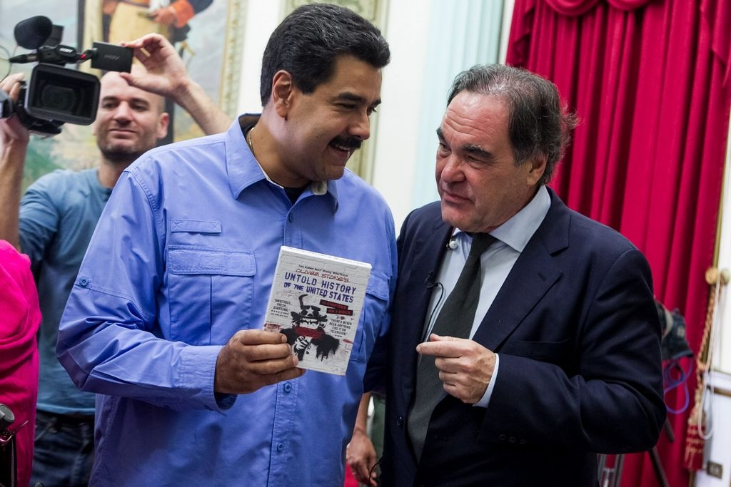 Nicolás Maduro recibe al cineasta estadounidense Oliver Stone