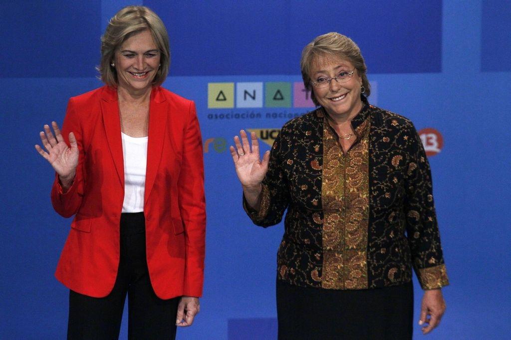 Bachelet y Matthei van por la presidencia de Chile