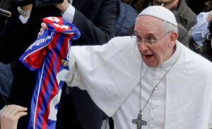 El Papa celebra campeonato de San Lorenzo