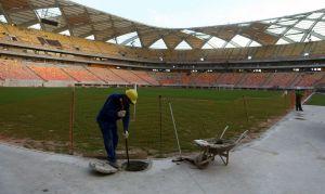 Buscan reanudar obras en estadio de Manaos