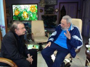 Fidel Castro recibió al periodista Ignacio Ramonet