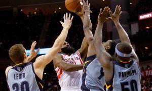 Harden encabeza triunfo de Rockets sobre Grizzlies