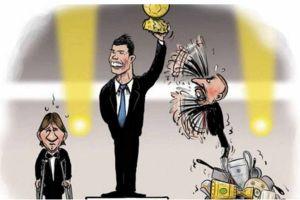 La peculiar caricatura del Balón de Oro de CR7