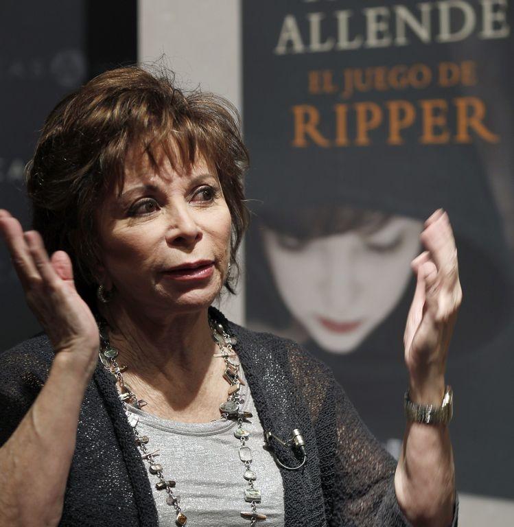 """Isabel Allende pasa al género del crimen con """"El juego de Ripper"""""""