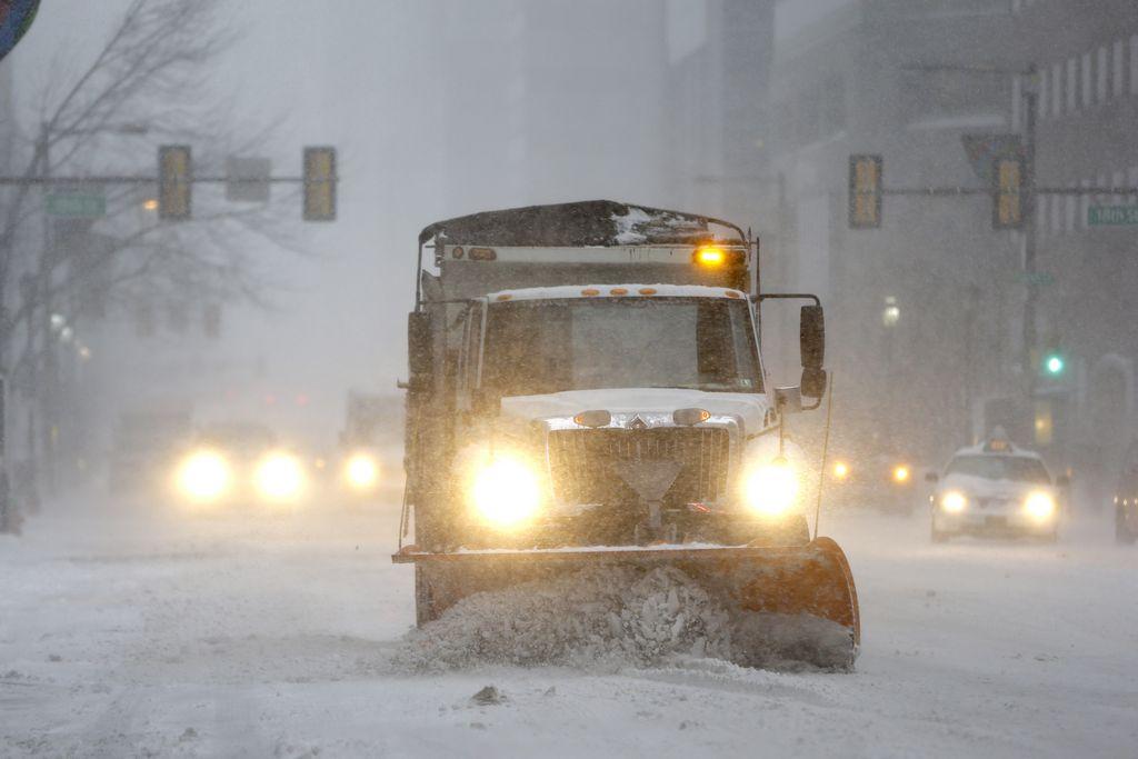 La nieve causó trastornos en Noreste de EEUU (fotos)